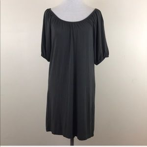Ann Taylor LOFT Gray Short Sleeve Shift Dress